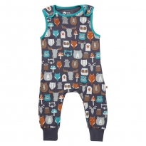 Piccalilly Forest Friends Dungarees