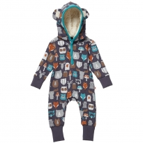 Piccalilly Forest Friends Hooded Playsuit