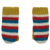 Piccalilly Stripes Knitted Mittens