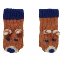 Piccalilly Fox Knitted Mittens