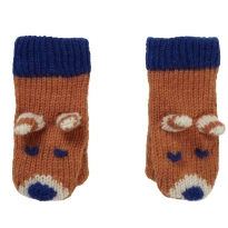 Piccalilly Knitted Mittens - Fox