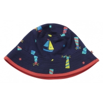 Piccalilly Lighthouse Print Reversible Sun hat