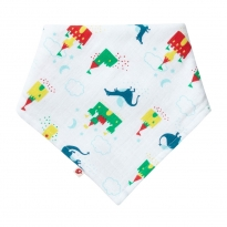 Piccalilly Magic Dragon Muslin Bandana Bib & Burp Cloth