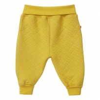Piccalilly Mustard Pull-Up Quilted Trousers