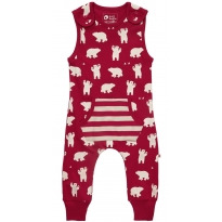 Piccalilly Polar Bear Dungarees