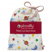 Piccalilly Space Cot Bed Sheet in a Bag