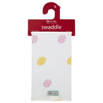 Piccalilly Daisy Spot Muslin Swaddle