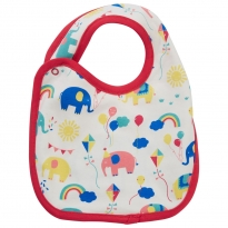 Piccalilly Party Elephant Reversible Bib