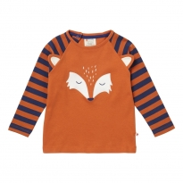 Piccalilly Fox Face Raglan Tee Top