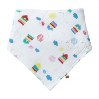 Piccalilly Beehive Muslin Bandana Bib & Burp Cloth