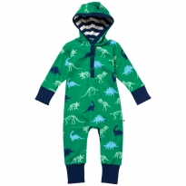 Piccalilly Dinosaur Hooded Playsuit