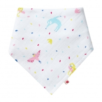 Piccalilly Rainforest Muslin Bandana Bib & Burp Cloth