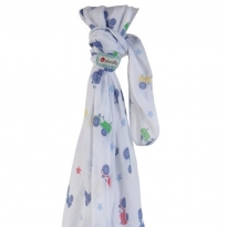 Piccalilly Tractor Muslin Swaddle