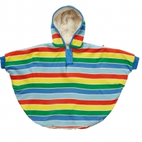Piccalilly Rainbow Stripe Reversible Poncho