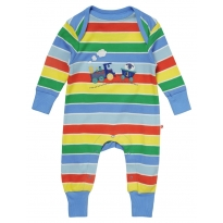 Piccalilly Rainbow Train Playsuit