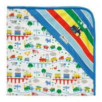 Piccalilly Rainbow Train Hooded Blanket