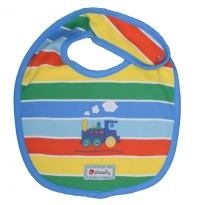 Piccalilly Rainbow Train Reversible Bib