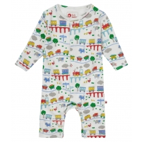 Piccalilly Rainbow Train Romper