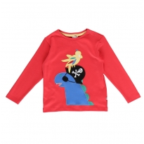 Piccalilly Red Pirate Dinosaur Top
