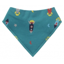 Piccalilly Rocket Bandana Bib