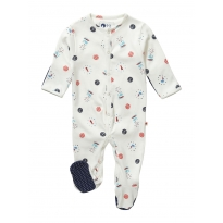 Piccalilly Sailor Spot Sleepsuit