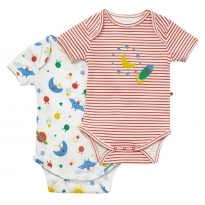 Piccalilly Space 2 Pack Bodysuit