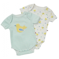 Piccalilly Toy Duck 2 Pack Bodysuit