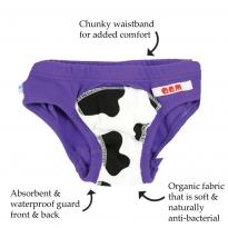Quack Quack Moo Potty Pants Purple 2 Pack