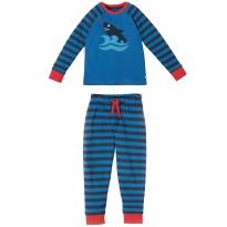 Frugi Blue Shark Raglan PJs
