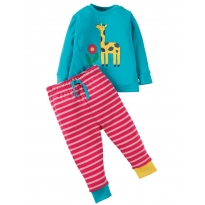 Frugi Giraffe Little Long John PJs