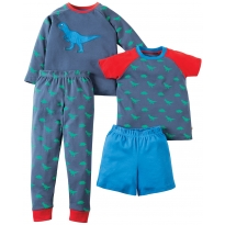 Frugi Dino Mix & Match PJs x2