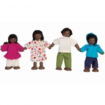 Plan Toys Afro-American Doll Family