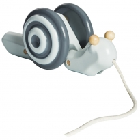 Plan Toys Pull-Along Grey Snail