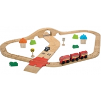 Plan Toys Road & Rail Set
