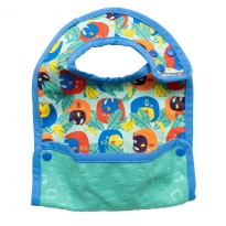 Pop-in Cwtch Elephant Stage 2 Baby Bib