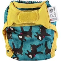 Pop-in Deer Print Newborn Nappy