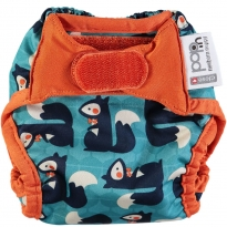 Pop-in Squirrel Print Newborn Nappy
