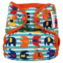 Pop-in Popper Stripe Elephant Nappy