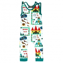 Raspberry Republic Royal Ribbit Dungarees