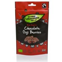 Chocolate Goji Berries Pouch 125g - Raw Chocolate Company
