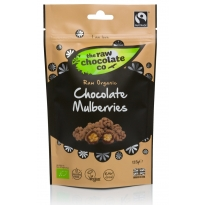 Chocolate Mulberries Pouch 125g - Raw Chocolate Company