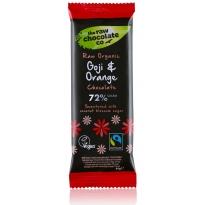 Goji & Orange 44g Bar - Raw Chocolate Company