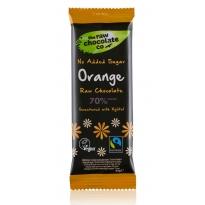 Orange with Xylitol 44g Bar - Raw Chocolate Company