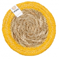 ReSpiin Jute & Seagrass Coaster - Yellow