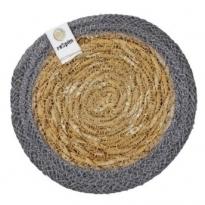 ReSpiin Jute & Seagrass Coaster - Grey