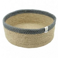 ReSpiin Medium Shallow Natural & Grey Basket