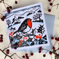 Christmas Robin Cards 5 Pack