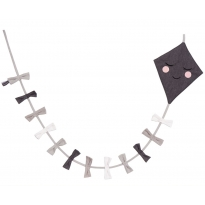 Roommate Monochrome Kite Garland