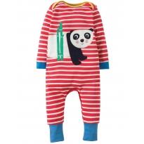 Frugi Panda Charlie Romper