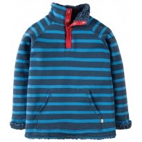 Frugi Navy Stripe Snuggle Fleece